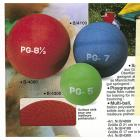 Playground-Ball 17 cm, blau